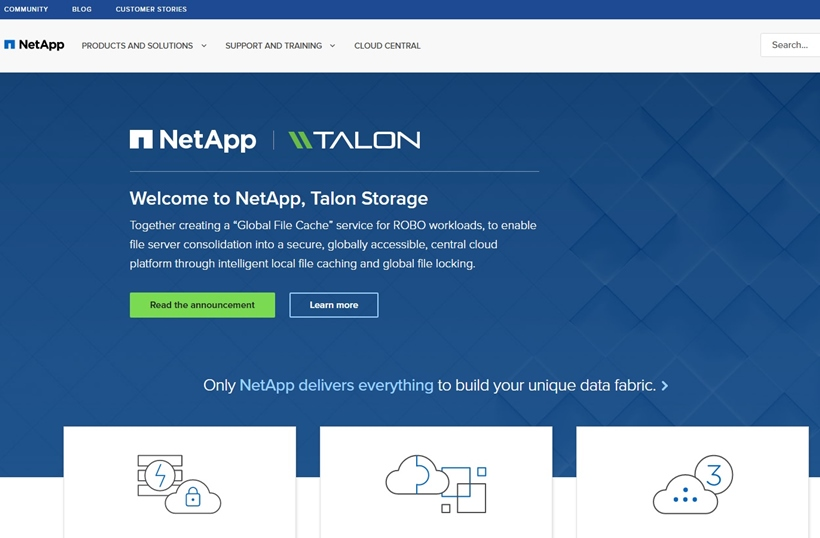 Hybrid Cloud Provider NetApp Acquires Cloud Storage Company Talon