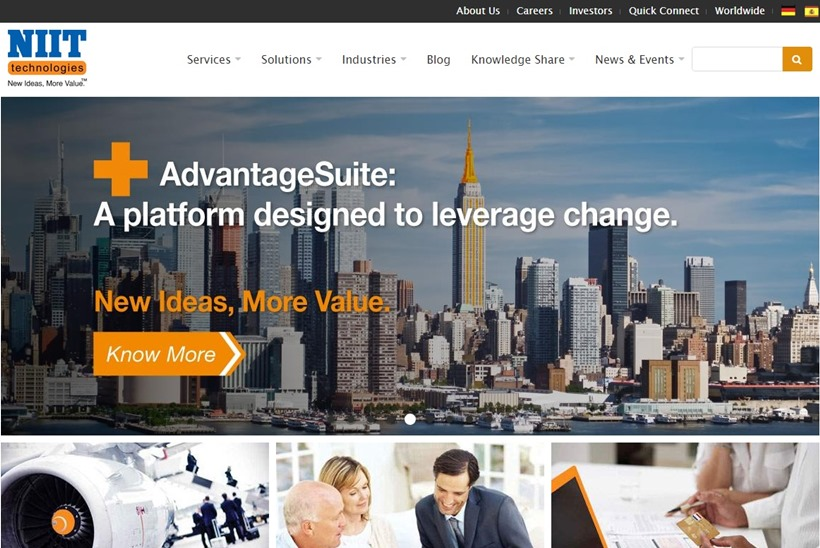 IT Solutions Provider NIIT Technologies Chooses Cloud Company NaviSite for Managed Hosting