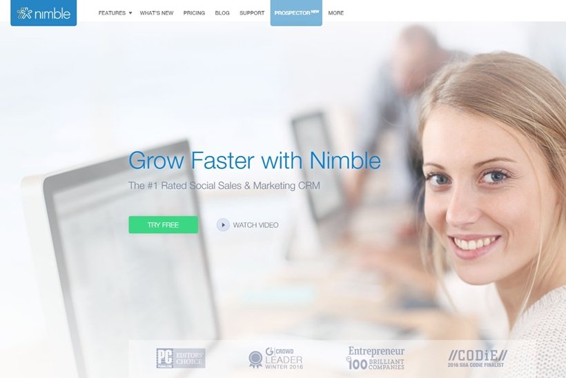 CRM Provider Nimble Launches Simple Solution for Office 365, G-Suite and Other Cloud Platforms