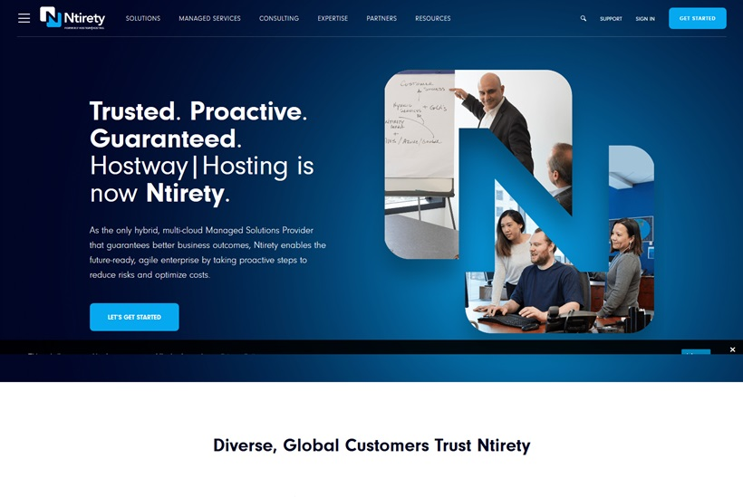 Managed Cloud Services Provider Hostway|Hosting Rebrands and Now Called 'Ntirety'