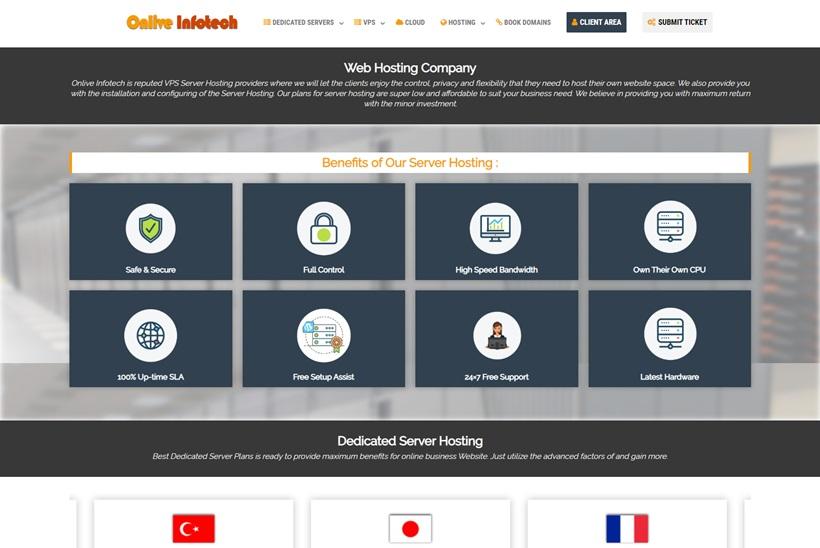 Cloud Hosting Platform Provider Onlive Server Launches Dedicated Server and Cloud VPS Hosting