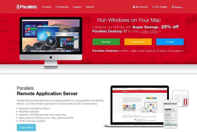 Cross-platform Solutions Provider Parallels Celebrates a Decade of Innovation with Promotion