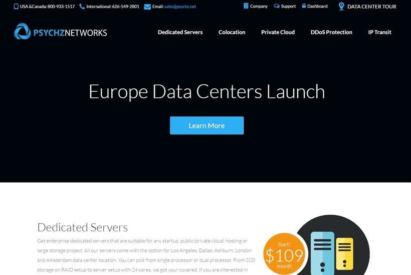 Hosting Services Provider Psychz Launches New Data Centers in Europe