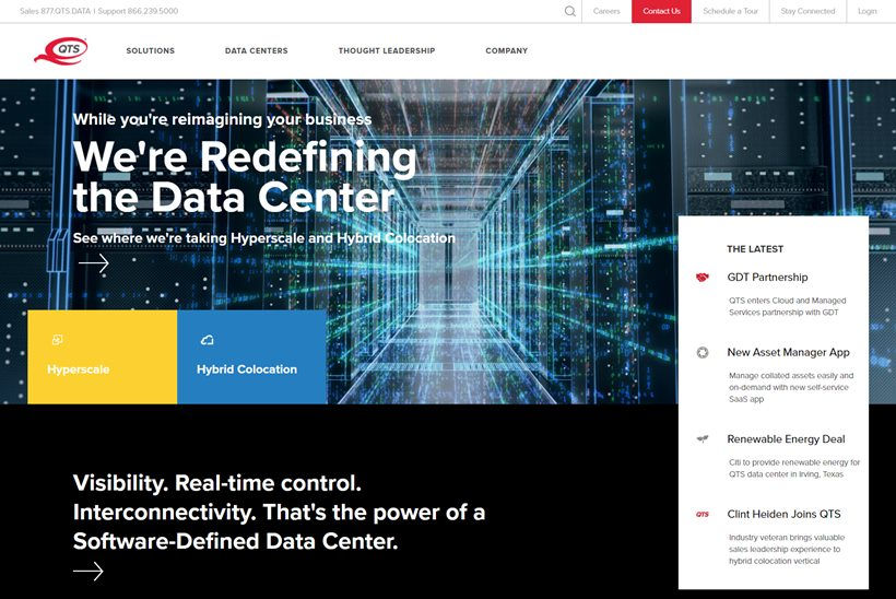 Data Center and Managed Services Provider QTS Partners with Managed IT  Solutions Provider GDT