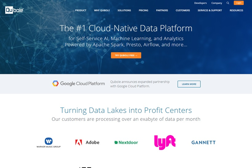 Data Activation and Processing Company Qubole Expands Partnership with Google Cloud
