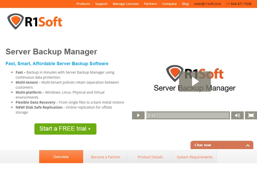 Continuous Data Protection Company R1Soft Conducts Case Study of Server Backup Company BackupRun's Leverage of SBM