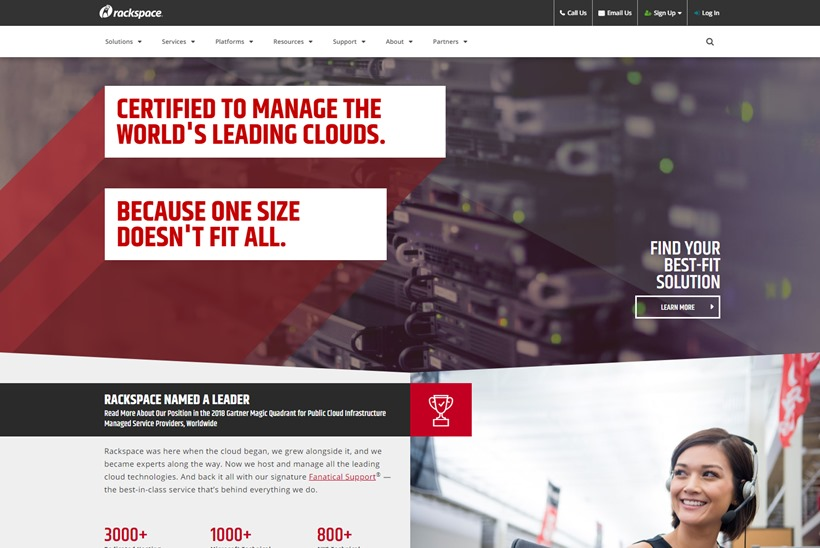 Managed Cloud Company Rackspace and Technology Infrastructure Corporation Switch Form Partnership
