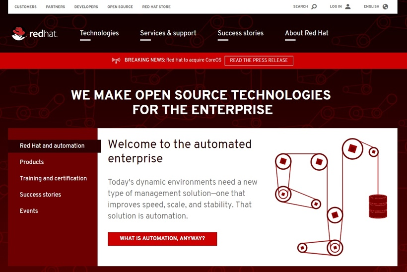 Open Source Solutions Provider Red Hat to Acquire Kubernetes and Container-native Solutions Company CoreOS