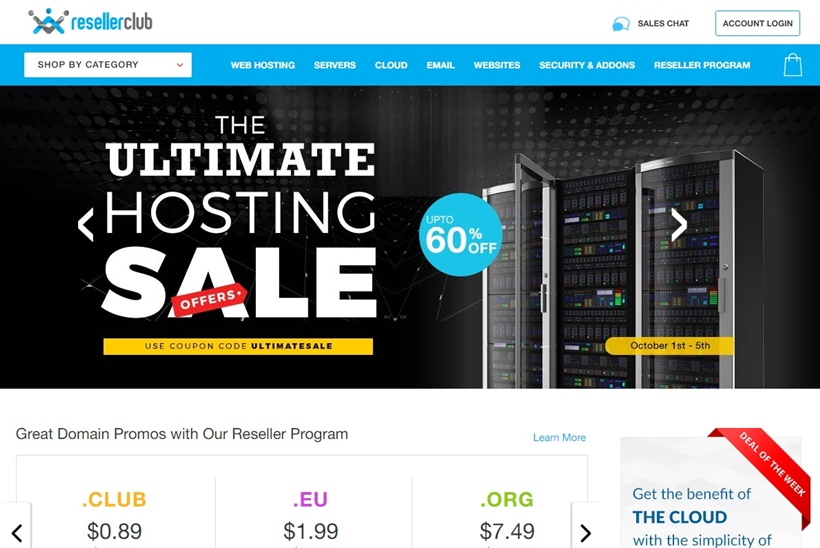 Web Host and Domain Registration Provider ResellerClub Announces Promotion