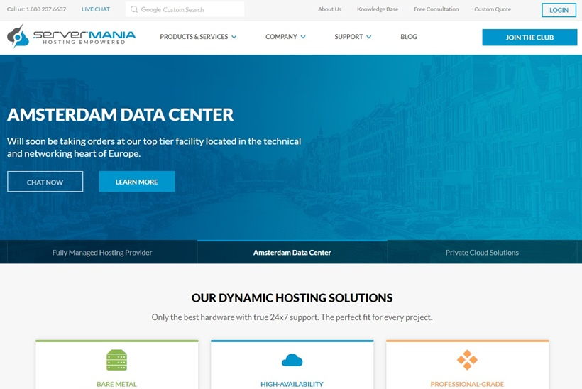 Web Host ServerMania Adds New Data Center in Netherlands