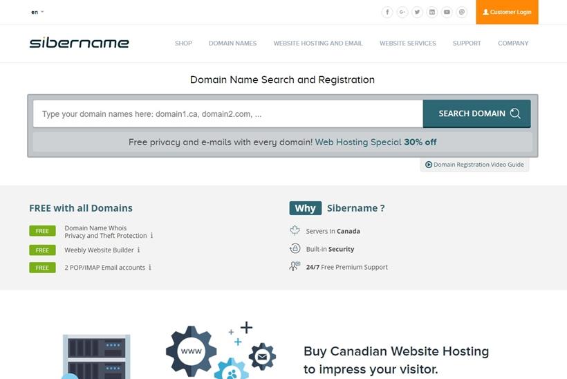 Web Host and Domain Name Registrar SiberName Announces Website Design Campaign