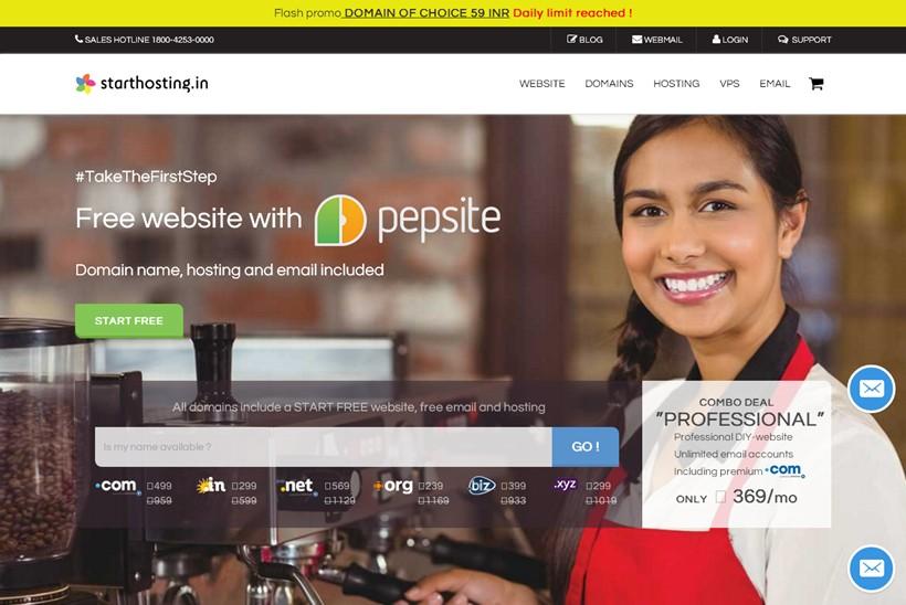 Web Host Starthosting Introduces Pepsite Mobile Website Builder App to the Indian Market