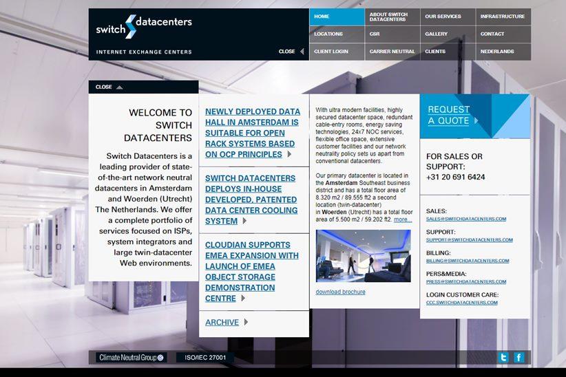 Colocation Facilities Provider Switch Datacenters Announces Data Center-as-a-Service Program
