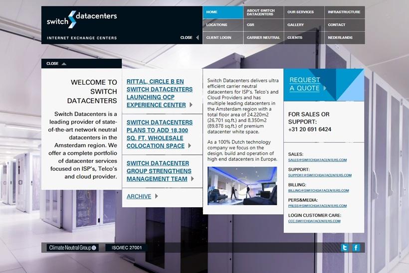Dutch Provider Switch Datacenters Sells Key Data Center