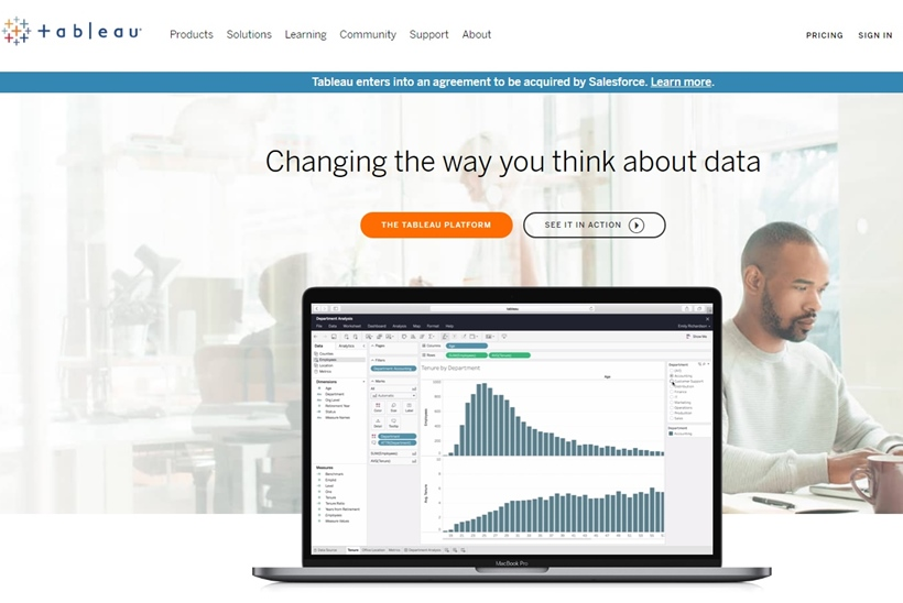 CRM and Cloud Services Specialist Salesforce Acquires Big Data Company Tableau