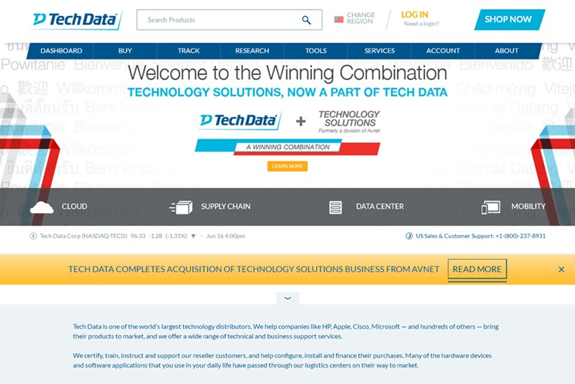 Wholesale Technology Products Provider Tech Data Announces Cloud-based Solution Designed for SMBs
