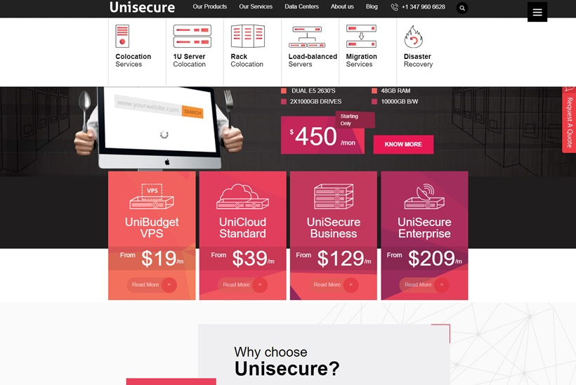 Web Hosting and Disaster Recovery Services Provider Unisecure Upgrades Dedicated Server Platform
