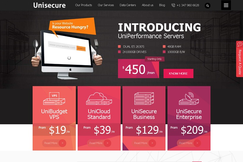 Web Host Unisecure Offers 'One-click Install' Cloud Computing Services