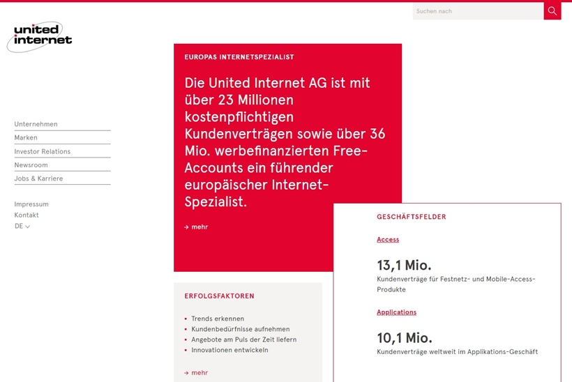 European Internet Provider United Internet to Acquire Web Host World4You