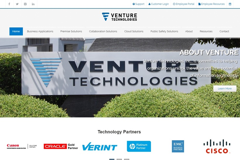 IT Solutions Provider Venture Technologies Acquires Internet Hosting Services Provider NetSource Communications
