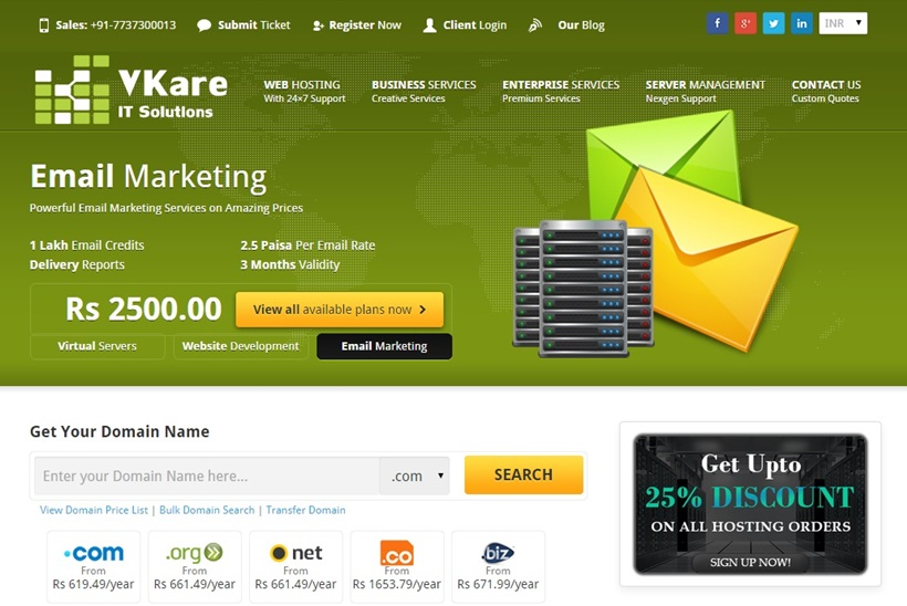 Hosting and Internet Marketing Services Provider VkareIT Solutions Offers Discounts