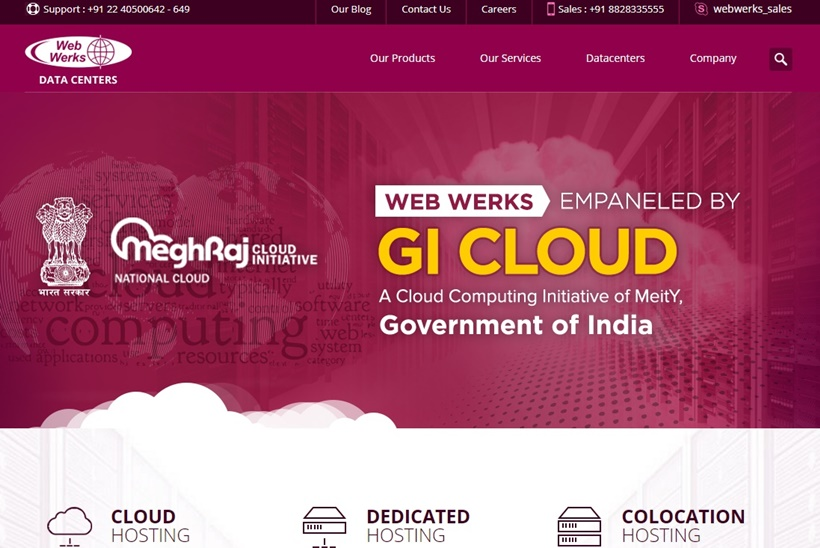 Indian Data Center Provider Web Werks to Upgrade Website