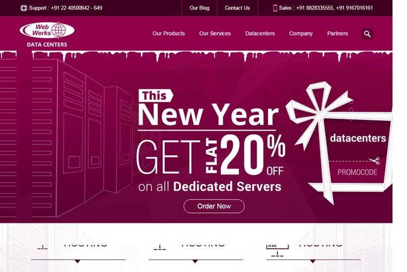 Indian Web Host and Data Center Company Web Werks Announces Redesigned Advanced Web Hosting and Data Center Solutions