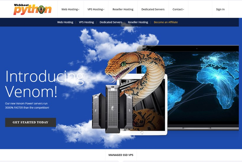VPS, Reseller, and Shared Hosting Provider Webhostpython Adds SSD Servers