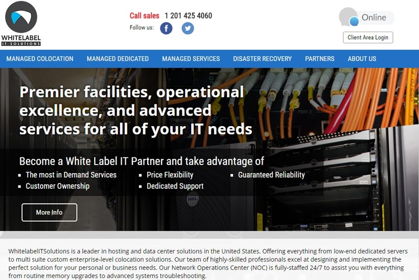 Colocation Hosting Provider Whitelabel ITSolutions Deploys Telia Carrier's IP Transit Services