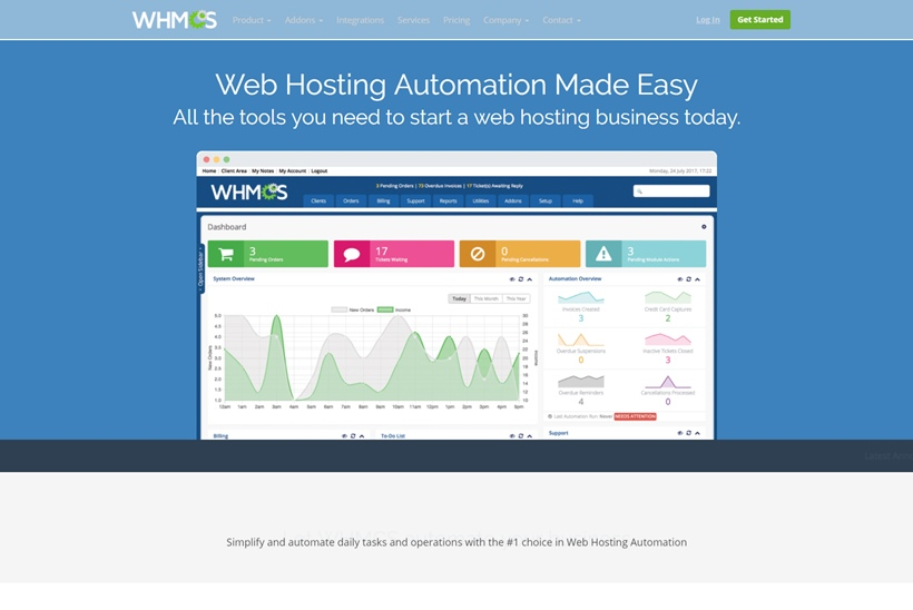 Website Security Solutions Provider SiteLock and Web Hosting Automation Platform Provider WHMCS Form Partnership
