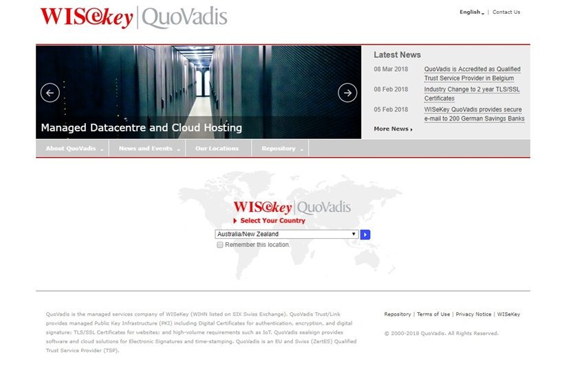 Global Cybersecurity Company WISeKey QuoVadis Chooses Open Converged Infrastructure Company Datrium to Extend Data Center Business