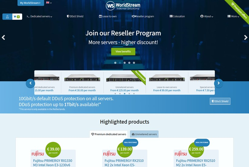 Hosting Solutions Provider WorldStream Partners with Computer Networking Company Arista