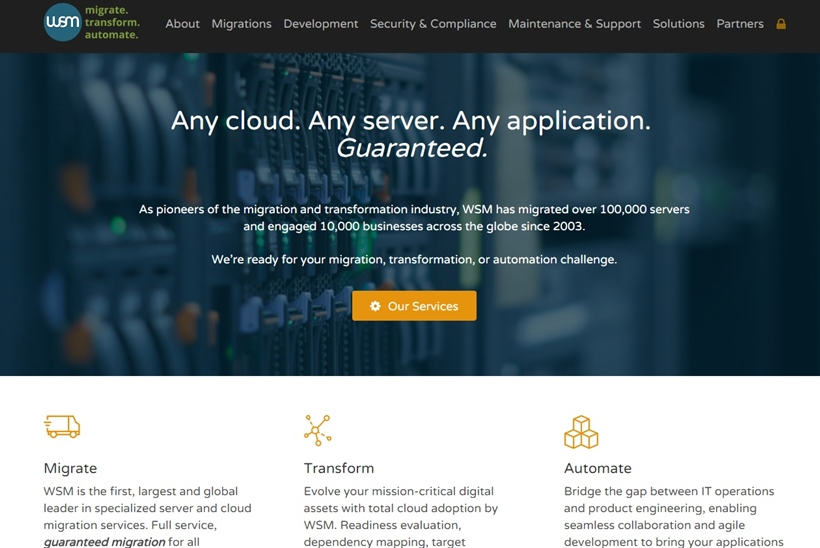 Cloud and Server Migration Services Provider WSM Launches Free Service