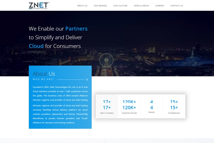 Web Host ZNet Announced Plesk's India Distributor