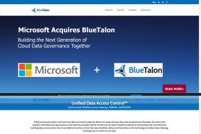 Cloud Giant Microsoft Acquires Unified Data Access Control Solutions Provider BlueTalon