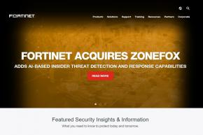 Internet Protection Company Fortinet Acquires Cloud Threat Analytics Provider ZoneFox