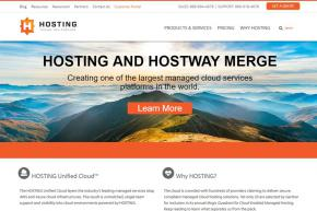 Managed Cloud Services Providers Hostway and HOSTING Merge
