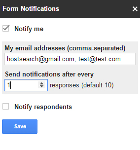Adding Notifications to Google Forms